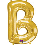 "Gold Letter B Balloon - 34"" Foil"