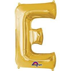 "Gold Letter E Balloon - 34"" Foil"