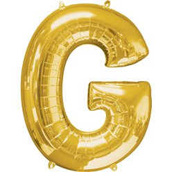 "Gold Letter G Balloon - 34"" Foil"