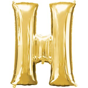 Gold Letter H Balloon - 34