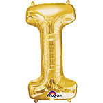 "Gold Letter I Balloon - 34"" Foil"