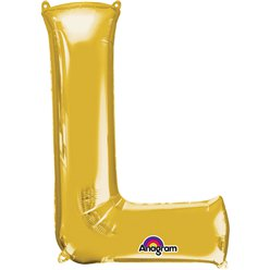 "Gold Letter L Balloon - 34"" Foil"