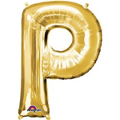 "Gold Letter P Balloon - 34"" Foil"
