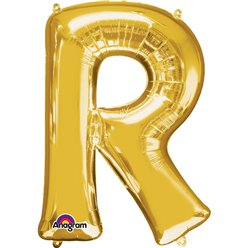"Gold Letter R Balloon - 34"" Foil"
