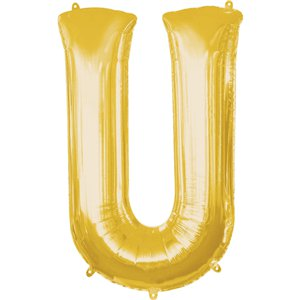 Gold Letter U Balloon - 34
