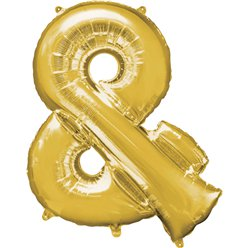 "Gold & Shaped Balloon - 34"" Foil"