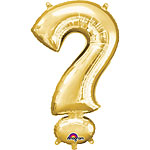 "Gold ? Shaped Balloon - 34"" Foil"