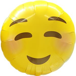 "Emoji Blushing Balloon - 18"" Foil"