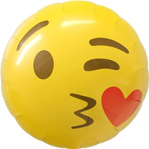 Emoji Kissing Heart Balloon - 18