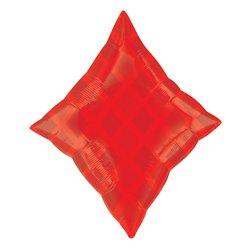 "Red Diamond Balloon - 19"" Foil"