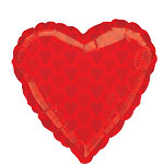 "Red Heart Balloon - 22"" Foil"