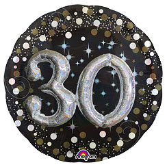 "30th Birthday Sparkling Celebration 3D Balloon - 32"" Foil"