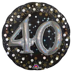 "40th Birthday Sparkling Celebration 3D Balloon - 32"" Foil"