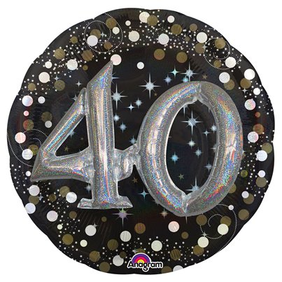 40th Birthday Sparkling Celebration 3D Balloon