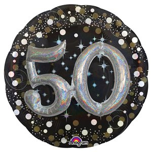 50th Birthday Sparkling Celebration 3D Balloon - 32