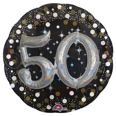 "50th Birthday Sparkling Celebration 3D Balloon - 32"" Foil"