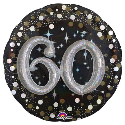"60th Birthday Sparkling Celebration 3D Balloon - 32"" Foil"