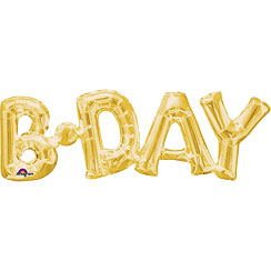 B'day Gold Foil Phrase Balloon