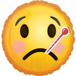 "Emoji Get Well Soon Balloon - 18"" Foil"