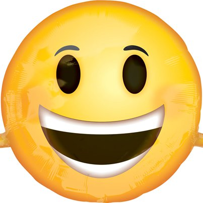 "Emoji Smiling Face SuperShape Balloon - 39"" Foil"