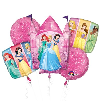 Disney Princess Balloon Bouquet - Assorted Foil