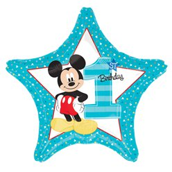 Mickey Mouse 1st Birthday Balloon - 18