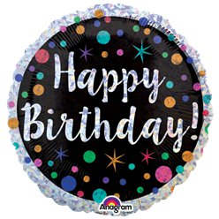 "Polka Dot Happy Birthday Balloon - 18"" Foil"