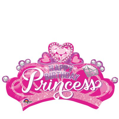 "Pink Princess Crown SuperShape Balloon - 32"" Foil"