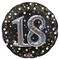 "18th Birthday Sparkling Celebration 3D Balloon - 32"" Foil"