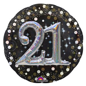 21st Birthday Sparkling Celebration 3D Balloon - 32