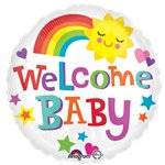 "Welcome Baby Rainbow Balloon - 18"" Foil"