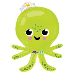 "Silly Octopus Supershape Balloon - 34"" Foil"