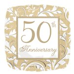 50th Gold Wedding Anniversary Balloon - 18