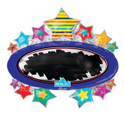 "Bright Star Chalkboard Balloon - 31"" Foil"