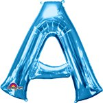 "Blue Letter A Balloon - 34""Foil"