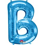 "Blue Letter B Balloon - 34"" Foil"