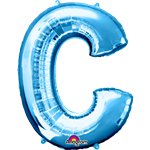 "Blue Letter C Balloon - 34"" Foil"