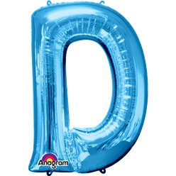 Blue Letter D Balloon - 34