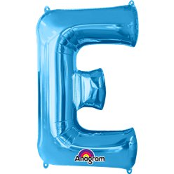 Blue Letter E Balloon - 34