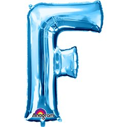 Blue Letter F Balloon - 34