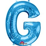"Blue Letter G Balloon - 34"" Foil"