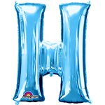 "Blue Letter H Balloon - 34"" Foil"