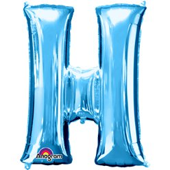 Blue Letter H Balloon - 34