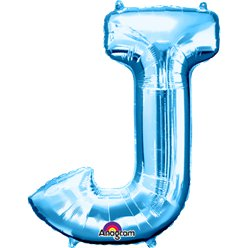 Blue Letter J Balloon - 34