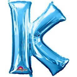 Blue Letter K Balloon - 34