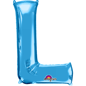 Blue Letter L Balloon - 34