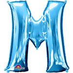 "Blue Letter M Balloon - 34"" Foil"