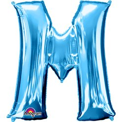 Blue Letter M Balloon - 34