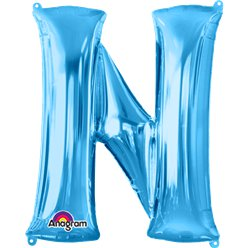 Blue Letter N Balloon - 34