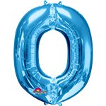 "Blue Letter O Balloon - 34"" Foil"